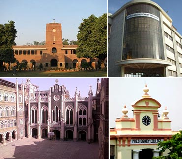 Best science colleges of India 2012