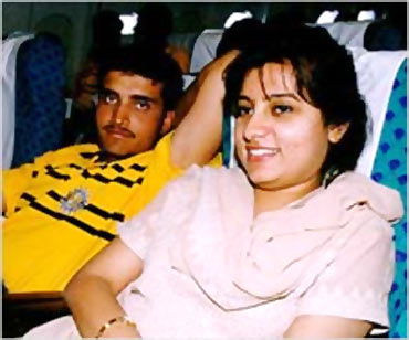Dona and Sourav Ganguly