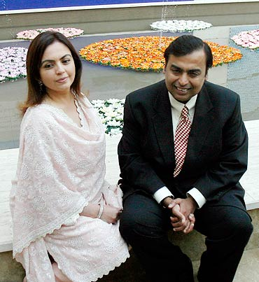 Nita and Mukesh Ambani