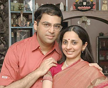 Aruna and Vishwanathan Anand