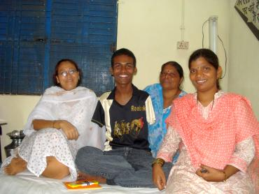 Rajesh with SUPPORT volunteers at their office in Santacruz, Mumbai