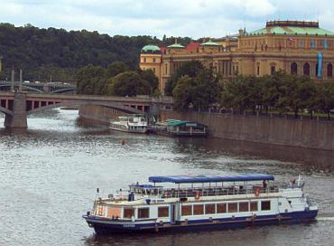 On the banks of the Vlatva river stand a vast number of the city's historic landmarks
