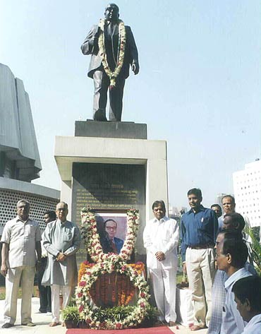 Dr B R Ambedkar's statue in the Maharashtra assembly