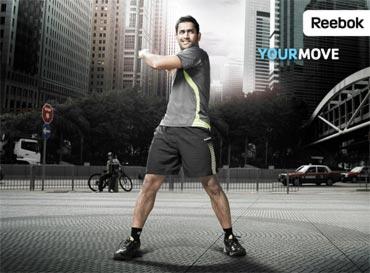 Dhoni endorses Rebook