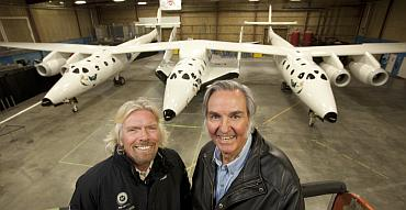 Richard Branson and Burt Rutan with the WhiteKnightTwo
