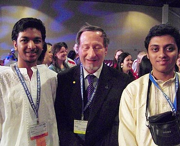 With Nobel Laureate Douglas Osheroff
