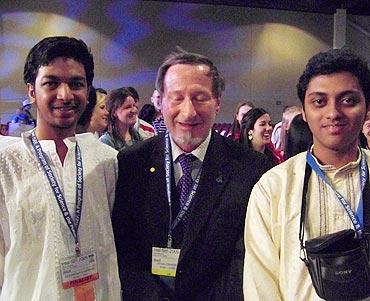 With Nobel Laureate Douglas Osheroff