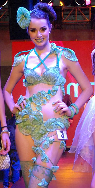 Indian-designed lingerie blazes on the ramp!