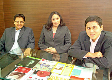 From Left: Anant Jatia, Radhika Gupta and Nalin Moniz