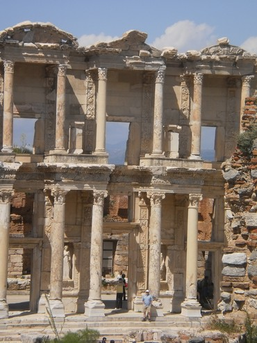 Remains of the library in the ancient city of Ephesus