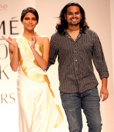 Rahul Mishra on the ramp, March 2009
