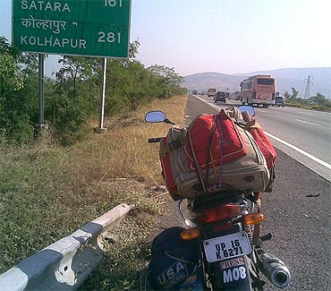 On the Mumbai-Pune Expressway!