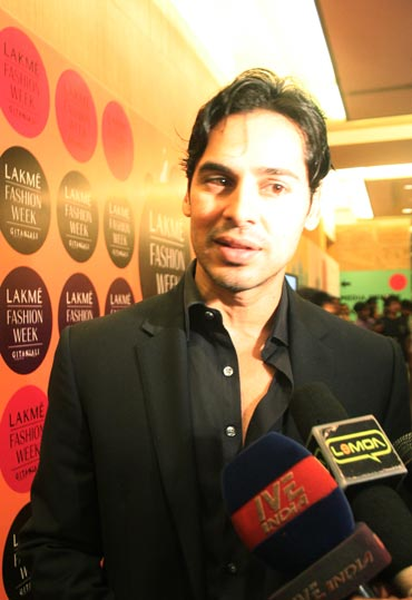Spotted: Dino Morea at the LFW