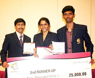 From left: Doni Cherian, Catherine R and Daniel V