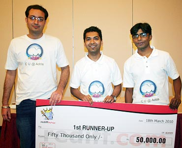 From left: Sanjeev Raina, Sumit Kakkar and Ravi Kishore