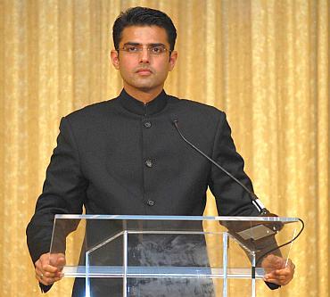 Sachin Pilot at the Wharton India Economic Forum.