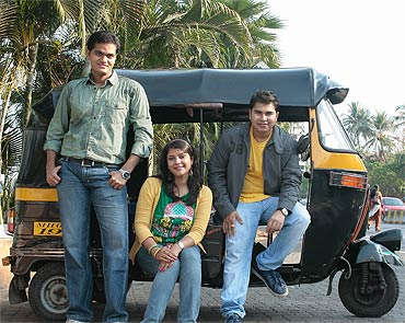 From right: Mulchand Dedhia, Simi Sailopal and Ishan Mehta