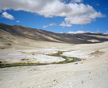 Puga Geothermal Valley, Ladakh
