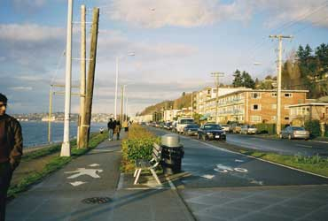 The Alki beach walkway