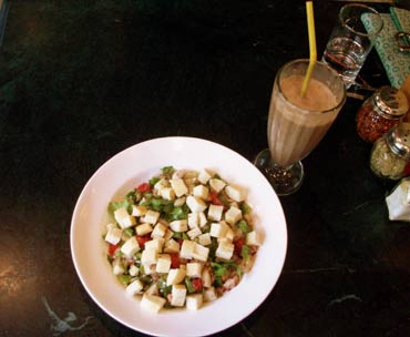 Big Chill Fatoush Salad and Belgian Chocolate Shake