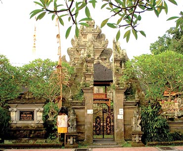 A pura desa is a village temple for official celebrations. Every Balinese village has one