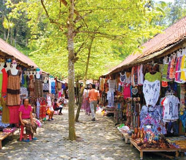 There are shops in almost every corner of Bali.