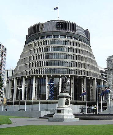 The 'Beehive' Parliament Buildings