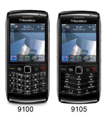 Blackberry Pearl 3G 9105 and 9100