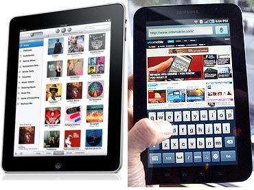 Apple iPad versus Samsung Galaxy Tab