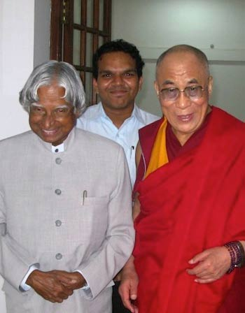 Srijan with APJ Abdul Kalam and His Holiness The Dalai Lama