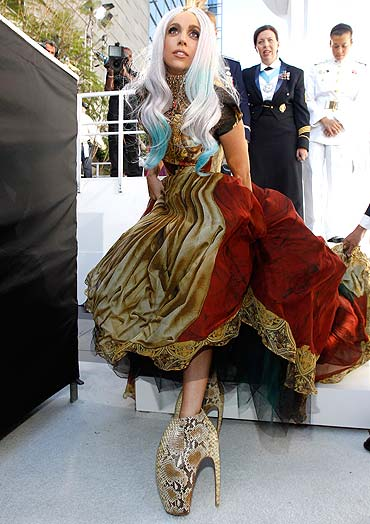 whopping nine inch heel. Thanks to Poker Face singer Lady Gaga [ Images