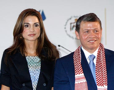 Queen Rania and King Abdullah II of Jordan