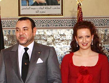 Princess Lalla Salma and King Mohammed VI of Morocco