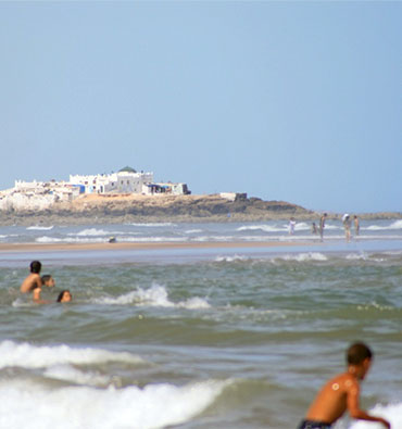 Ain Diab is an affluent suburb on the beachfront of the Atlantic.