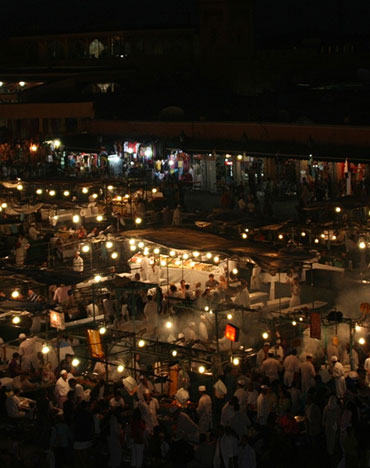 The Djemaa el Fna is a cacophony of sights and sounds.