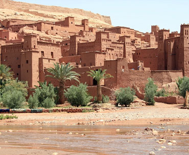 Ait-Ben-Haddou, a fortified village or ksar is a world heritage site.