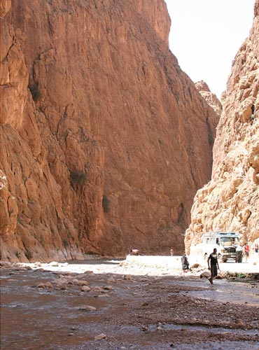 The spectacular Todra Gorge