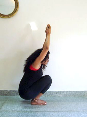 Druta Utkatasana (Dynamic squat pose)