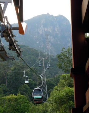 The cable car ride was an unforgettable experience