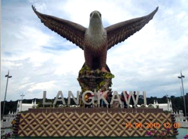 The Eagle Square embodies the guardian spirit of Langkawi in the form of a huge eagle statue.