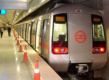 The Delhi Metro Rail, a much-needed respite from traffic snarls.