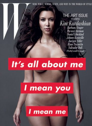 Kim Kardashian poses in the buff for mag cover
