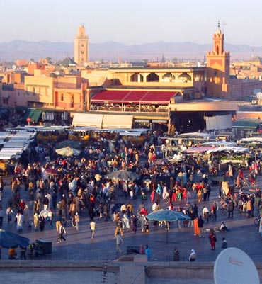 The city's main public square Djemma el Fna, Marrakesh