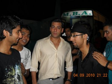 With Salman Khan on the sets of India's Got Talent