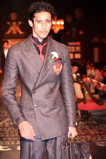 An Arjun Khanna creation at HDIL India Couture Week