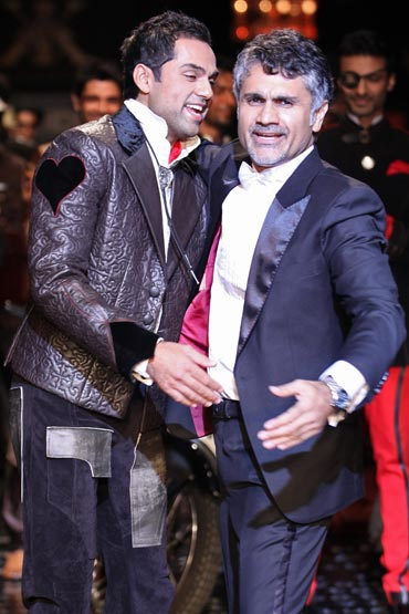Abhay Deol and Arjun Khanna at HDIL India Couture Week