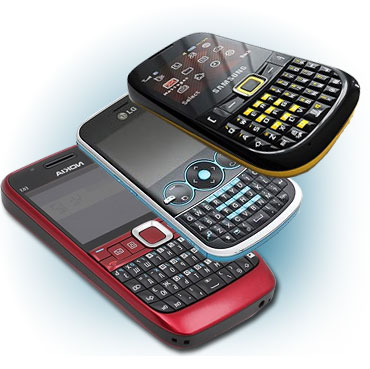 A collage of QWERTY phones available in India