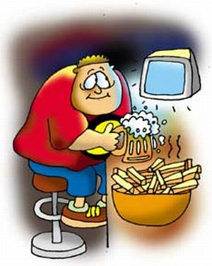 Today's youngsters prefer slouching in front of their TV/computer screens munching on chips
