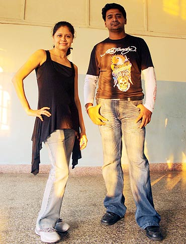 Shla Kesavan with her associate, Mahinder
