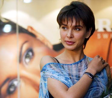 Lisa endorses a watch brand during a promotional campaign in Kolkata
